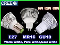 Wholesale High Power Cree Led Light Bulbs B22 GU10 MR16 W W W E14 E27 Led Spot lights led downlight lamps