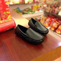 Wholesale hot sale cheap kids leather shoes boy and girls soft outdoor comfortable colors