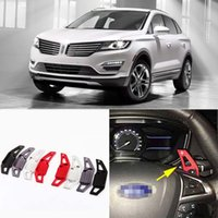 Wholesale 2pcs Brand New High Quality Alloy Add On Steering Wheel Aluminum Shift Paddle Shifter Extension For Lincoln MKC