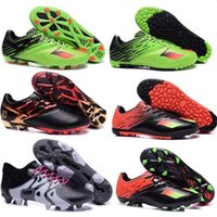 Wholesale 100 Original MESSI FG AG Soccer Cleats Shoes MESSI TF Football Boots X15 Primeknit Mens Authentic Athletic Sport Ace Shoes