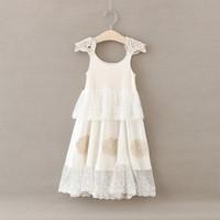 al por mayor modelos de vestido de fiesta de niña-Vestido de encaje flor de encaje bebé largo patrón de Bohemia princesa vestido de fiesta Vestido de algodón suave verano de algodón