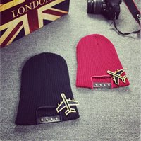 aircraft hats - 2016 Cute Cartoon Harajuku Acrylic Wool Knitted Hat aircraft Female Winter Spring and Autumn Support