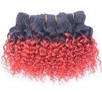 Wholesale T1B RED For Full Head Hair Extensions Curly Accessories Pieces quot Natural Black To Red