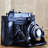 bank films - Zakka Vintage tin camera film machine Nostalgic wrought iron piggy bank Money Safe Home Decor cm