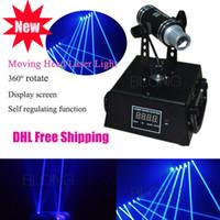 Wholesale 360 Rotation mw Blue Mini Moving head Laser Light for DJ Bar DMX512 Model Stage Laser Projector Effect of Laser Curtain Laser Net