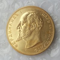 antique gold coins prices - Bulgaria Gold Coin Leva Declaration of Independence copy coin Promotion Cheap Factory Price nice home Accessories Silver Coins
