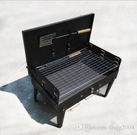 Wholesale New arrive burn oven portable outdoor box type furnace grill Oven Barbecue Grill outdoor barbecue utensils Charcoal BBQ Grills