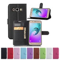 Wholesale New Luxury Litchi grain Wallet Leather Case Cover For SAMSUNG Galaxy S7 EDGE Plus A310 A510 A710 J120 J105 J710 J510 Case With Card Holders