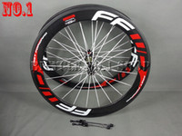 Wholesale 2016 FFWD k wheels F6R mm wheelset straight pull Powerway R36 carbon hubs full carbon road bicycle bike wheels white red free gifts