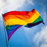 Wholesale 2016 New Rainbow Flag x5 FT x150cm Polyester Lesbian Gay Pride LGBT For Decoration FashionTwo Sides Printed Flagl Flags