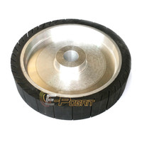 aluminum polishers - 250 mm Centrifugal Rubber Contact Wheel Sanding Belt Polisher Grinder Wheel