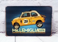 antique cast iron cars - Vintage Iron Sign Millemiglia Car Decor Home Pub Garage Shop Wall Art Poster
