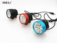 Wholesale 20000lm LED x CREE XM L T6 LED V Front Bicycle Cycling Lamp Bike light Headlamp Mode Flashlight torch headlight