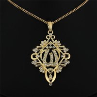 islamic necklace - Middle East trade Arab Muslim Islamic ancient Gold Pendant Necklace with high grade imitation gold jewelry