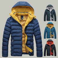 Wholesale 2016 Brand Fashion Down Parkas Outdoor Hooded Warm Windproof Winter Jacket Men Casual Clothes Men s Jacket Man Cotton Coat