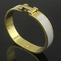 circle hooks - titanium steel jewelry Fashion mens bracelet wristband with box H bracelet gold bracelet gold bangle for woman couple