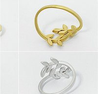 Wholesale Self Defense Ring Jewelry - Yiwu Small Commodities Wholesale Korean jewelry wholesale leaves and branches love leaves Ring Ring self-defense s 004