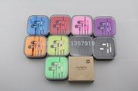 Wholesale Top Quality New Fabric XIAOMI Piston Earphone Headphone Headset White Gold with Mic for MI2 MI2S MI2A Mi1S Phones