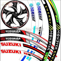 big car rims - 17 quot Big Brand Wheel The flame Reflective Car Motorcycle Rim Sticker motoycycle car wheel tire sticker Reflective rim tape