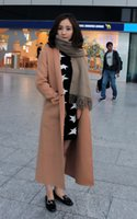 Wholesale Long paragraph cashmere coat casual fashion cashmere coat can be tailor made for you any color