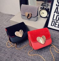 Wholesale 2016 new totes bags womens handbags fashion messenger bags chains bags love heart bags designer cross body bags for girls