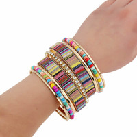 Cheap Beads Diamond Bracelet Fashion Patch Multilayer Exaggeration Bracelet For Women Girls Jewelry Factory From China