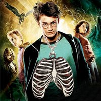 american chest - 2016 Euro American Movie Harry Potter New Human Chest Anatomy Necklace Retro Pendant Necklace For Men zj