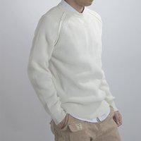 Wholesale Autumn new loose black round neck hedging hollow male white long sleeved knit sweater bottoming youth