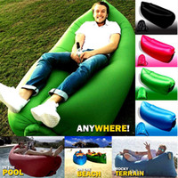 Wholesale Sleeping Sleep Bag Hiking Air Sleep Camping Bed Camping Sofa camping lightweight summer camping beach Top Quality sleep bag DHL Free
