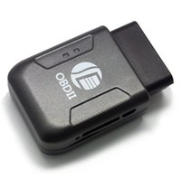 Wholesale 2016 New Arrival Mini OBD II Car Auto GPS Tracker Locator Truck Vehicle Mini GSM GPRS GPS Tracking Device Google Realtime Track
