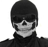 Wholesale 2016 NEW hot sale CS Cosplay Ghost Skull Black Face Mask Cap Motorcycle Biker Multi functional Skeleton Hat Scarf Balaclava