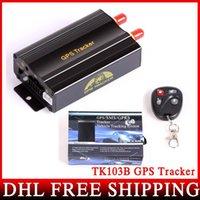 Precio de Pc shock del sistema-10pcs / lot DHL UPS FEDEX TK103B con teledirigido dual y sensor del choque de banda cuádruple GPS 103 GPS Sistema PCWeb-Basado