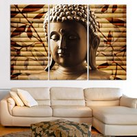 ancient buddha - 3pieces classical buddha painting solemn Buddhism wall canvas art asian Religion ancient picture for house decoration No Frame