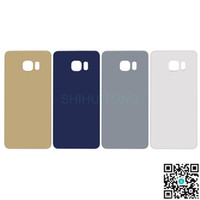 Wholesale Glass Door Battery Case For Samsung Galaxy S6 Original Cheap Gold White Rear Back Battery Housing Cover for S6 G928 S6G928BBHC