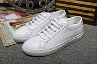 applique projects - Original Common Projects famous Designer brand Casual Shoes Top Quality Genuine leather sneakers women men Unisex Fashion White loafers