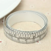 adhesive ruler tape - New cm Vinyl Silver Self Adhesive Measuring Tape Measure Ruler Sticker For Sewing Machine Excellent Quality