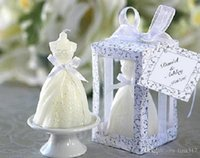 Wholesale Novelty household Party holiday gift favors Candle wedding gifts wedding dress style candle for wedding favors