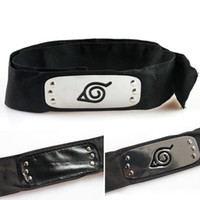 Wholesale Anime naruto headband Leaf Village Logo Konoha Uchiha Itachi Kakashi Akatsuki Members cosplay costume Accessories Black Red Blue