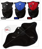 Wholesale Motorcycle Bicyle Bike Fleece Face Mask Sports Dust Winter Warm Hats Cap Ski Snowboard Wind Hood Thermal Balaclavas Scarf H11737