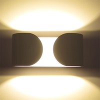 Wholesale 6W AC85 V Arc Shape Bidirectional Lighting Bright Wall Light new brand