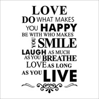 american house designs - 2016 DIY Love House Rule English Letter Quote Wall Stickers PVC Home Bedroom Waterperoof Removable Wall Decor Wallpaper X23 quot