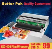 Wholesale HZC Stainless steel cling film sealing machine Food fresh film wrapper desk type portable super market use film wrapper