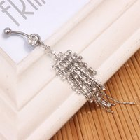 Wholesale Styles Body Jewelry - newest nice style navel belly ring 10 pcs clear color stone drop shipping piercing jewelry body jewelry