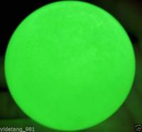 art in stone - 60MM SAND Glow White Jade Stone Glow green In The Dark Stone Ball Healing V4