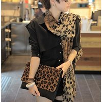 Wholesale Hot Sale Silk Scarf Cashmere Chiffon Scarf Animal Print Super Star Style Leopard Shawl Brand Designer Scarves and Stoles Scarf