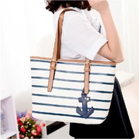 anchor tote bag - Newest hot sell anchor tote classics fashion women handbag lady totes PU leather shoulder bags new style