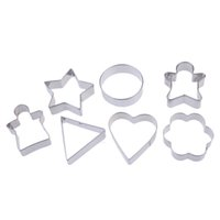 Wholesale 7 in Creative SET Stainles Steel Geometric Cake Fondant Biscuit Pastry Cookies Decorating Mold Mould Cookie Cutter Tools