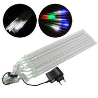 Wholesale Hollow Garden Decoration Lights LED Bar Light Set Meteor Shower Rain Tubes EU Plug