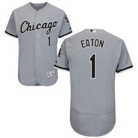 adam white baseball - Chicago White Sox Adam Eaton David Robertson Majestic MLB Baseball Jerseys Black White Gray Mens Size S M L XL XXL XXXL