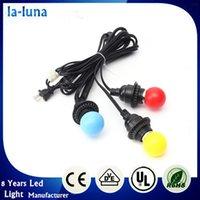 best black light bulb - Best Promotion Pendant Light Cord Kit E27 E26 Black Triple Sockets Edison Incandescent For Medium Base Bulb V
